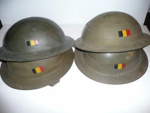 helmet casco après 1946 Casque belge  modèle 49 TOMMY MK 2 plat à barbe
