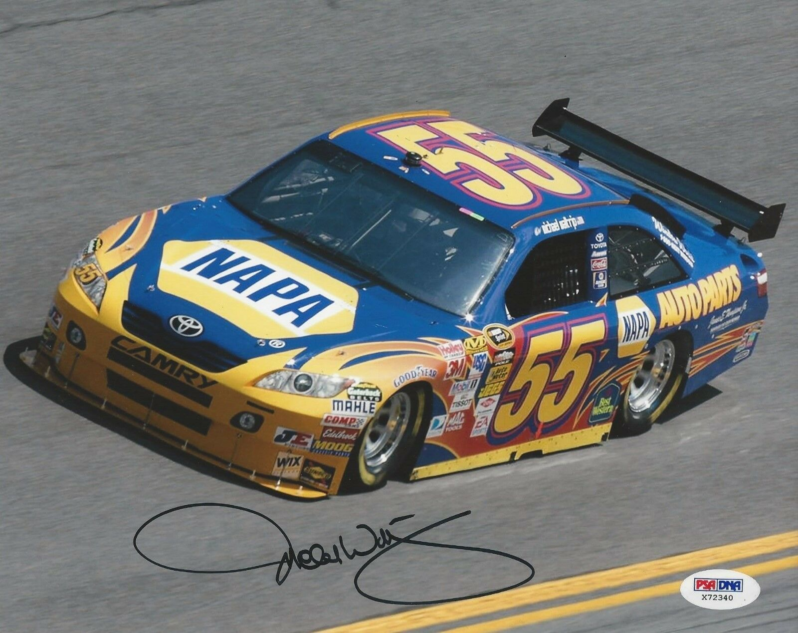 Michael Waltrip signed 8x10 PSA/DNA # X72340