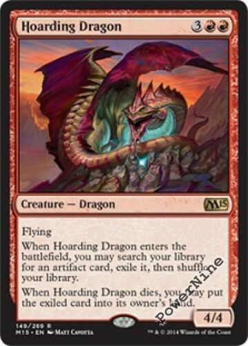 4 FOIL Hoarding Dragon Red m15 Magic 2015 Mtg Magic Rare 4x x4