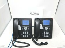 Lot Of 2 Avaya 9611g Ip Business Telephones With Headsets And Stands