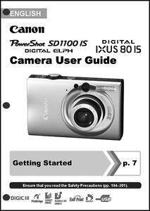 canon powershot sd1100 is ixus 80 is digital camera user guide rh ebay co uk Canon PowerShot SD1100 Is canon sd1100 is user manual