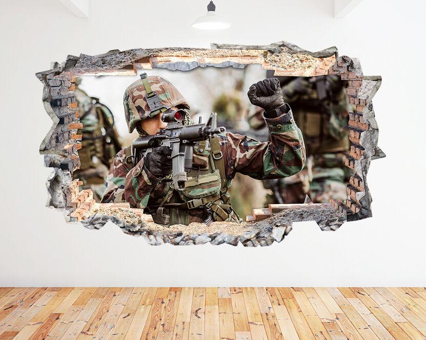 K220 Army Scena soldati COD Ragazzi   adesivo da parete camera bambini