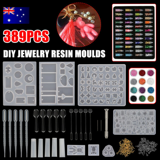 389pcs/kit Earring Pendant Jewelry Mold Resin Casting Craft Moulds Epoxy Craft