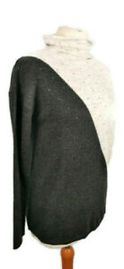 Monsoon-10-Grey-Long-Sleeve-Polo-Neck-Jewelled-Wool-Blend-Jumper-NEW-BNWT-49