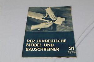 31 V Nr Beilage Bilderschatz Süddeutsche Möbel Und Bauschreiner 1935 /s83