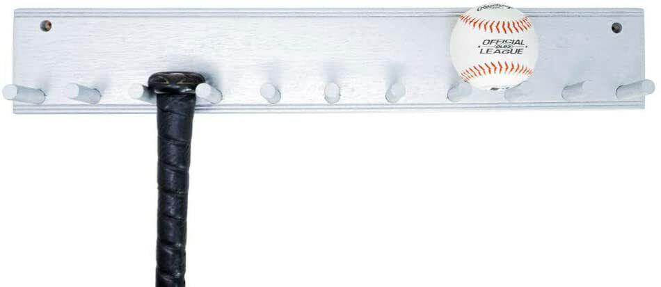 Clear Bat Wall Mount Baseball Bat Holder Display Stand Saber Storage Holder Easy to Install 2PCS//Pack Wall-Mounted Baseball Bat Bracket