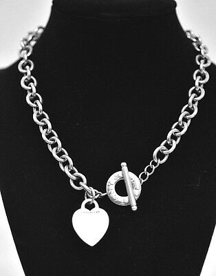Tiffany Co Sterling Silver Thick Necklace Have 77grams 15 Inch Long Bracelet Ebay