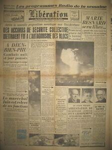 INDOCHINE-DIEN-BIEN-PHU-Mal-JUIN-DESTITUe-PEUR-ATOMIQUE-JOURNAL-LIBERATION-1954