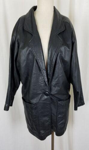 Wilsons Boutonné Décolleté S Blazer Et Daim Femmes Manteau Cuir Style Noir 81r8q