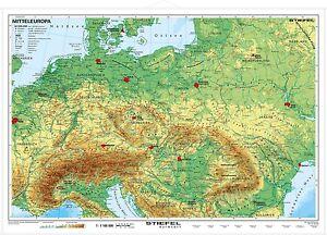 Mitteleuropa Landkarte Schulerhilfe Wandkarte Schulwandkarte Ebay