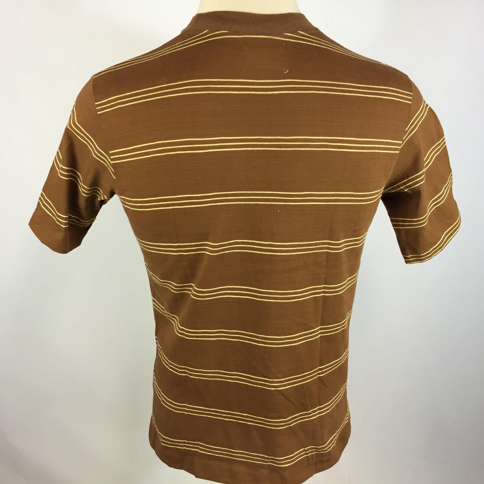 Vintage 50s 60s Shelfield Knit Surf Stripe Brown … - image 6