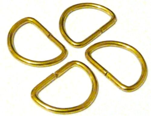 CHOOSE AMOUNT TOP QUALITY 25MM GOLD UNWELDED D RING BUCKLES FOR WEBBING ETC