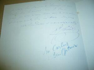 LETTRE AUTOGRAPHE DU SCULPTEUR Jean CARLUS (1852-1930) 7YQlio1T-09152717-509049081