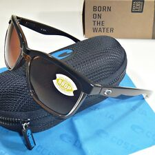15fa792dbd Costa Del Mar Anaa Polarized Sunglasses-Shiny Black on Brown Copper 580P  Lens