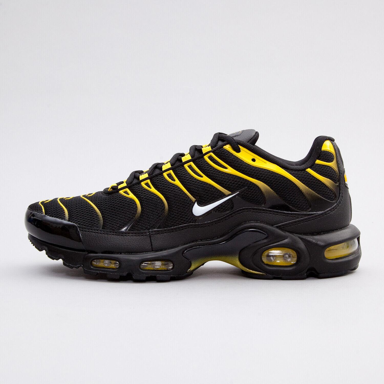 Homme Nike Air Max Plus Baskets noir jaune 852630 020 UK 7 EU 41