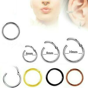 TITANIUM-HINGED-PIERCING-CLICKER-HOOP-SLEEPER-EARRING-EAR-RING-TRAGUS-NOSE-HINGE