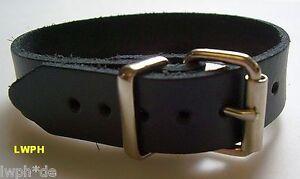 Lederriemen braun mit Rollschnalle 1,1 x 24,0 cm  Riemen für viele Anwendungen
