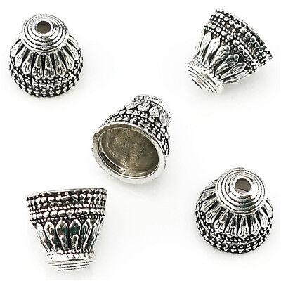 22347 20pcs vintage motif de feuille pampilles perles Cap Jewelry Findings Charm