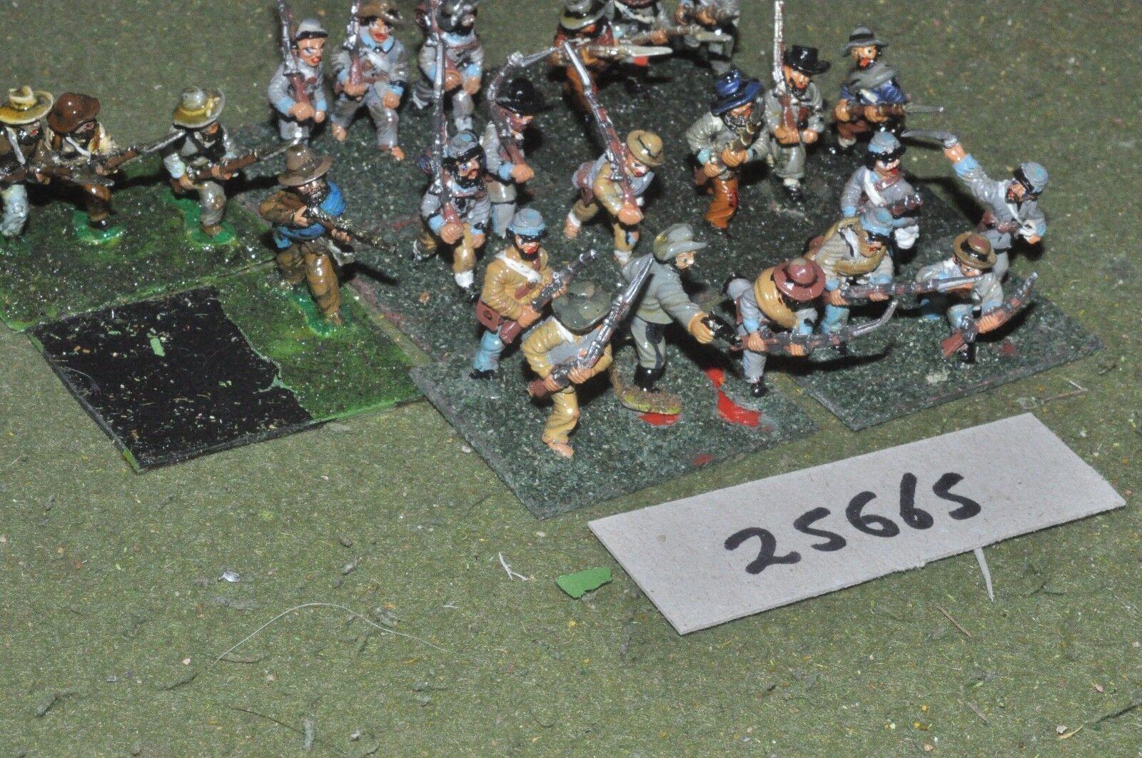 25mm ACW   confederate - regt 24 figures - inf (25665)