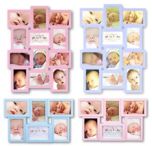 88dedb8daa1095 Kinder Galerie Bilderrahmen für 6 oder 12 Fotos in 10x15 Baby Rahmen ...