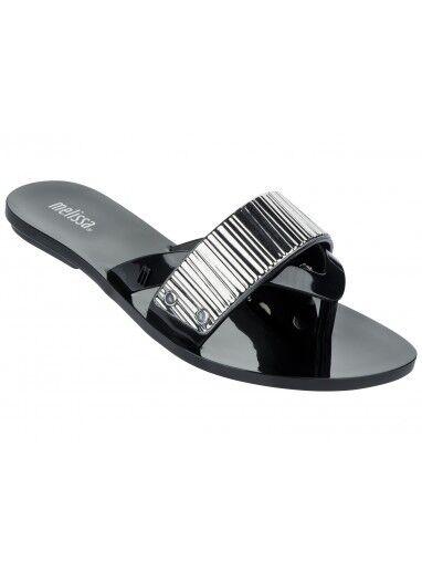 Melissa shoes  Cream  Black Women's Flip Flops -