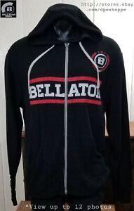 Bellator-MMA-SPIKE-Graphic-Blk-Full-Zip-Midweight-Hoodie-Sweatshirt-Slim-Sz-XL