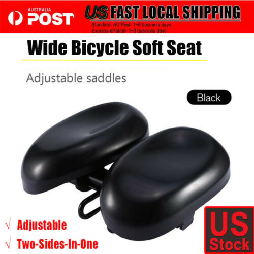 Bike Bicycle Comfort Wide Big Bum Soft Pad Saddle Seat Gel Cruiser Extra Sporty