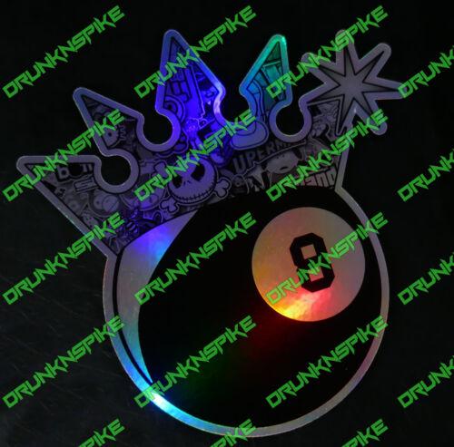 8 Ball Sticker Bomb Crown Car jdm dub Van Funny Chopped oil slick chrome silver