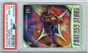 2019-20 Panini Donruss Optic LeBron James Fantasy Stars Holo #14 PSA 10 LAKERS