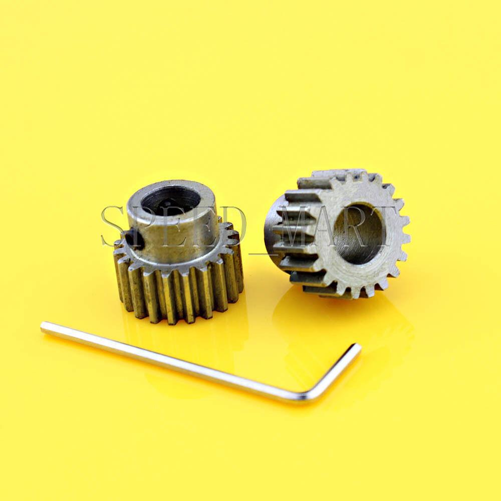 1M-20T 12mm Bore Hole 20 Teeth 20T Module 1 Motor Metal Gear Wheel Top Screw