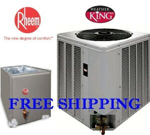 Details about 5 Ton R-410A 14SEER WeatherKing by Rheem A/C Condensing Unit  & Evaporator Coil