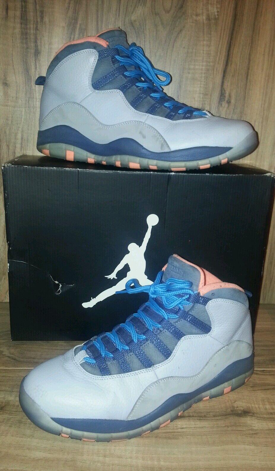 Rare!! Gris Nike Air Jordan Retro x Bobcats Wolf Gris Rare!! Powder Azul Tamaño 11 83176c