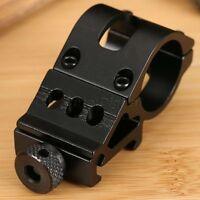 "1"" 25mm Offset Ring 45°Side 20mm Picatinny Rail Mount for Flashlight Rifle Laser"