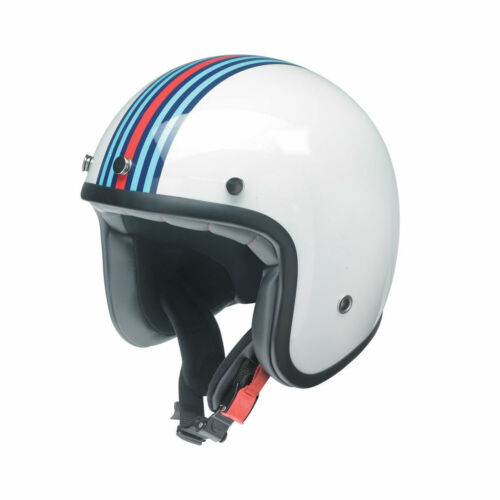 Cuoco uomo Redbike casco MOTO BIANCA BLU ROSSA RB 768 Moto Roller Casco