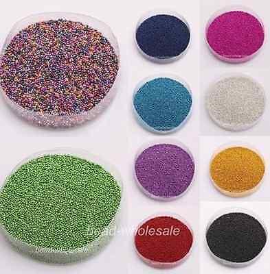 20g Caviar mini Balls Micro Beads Nail Art Acrylic UV 3D Decoration Set 15Colors