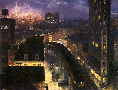 New York City from Greenwich Village by John Sloan 1922 Poster Repro FREE S//H
