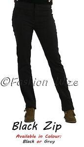 Ladies-Work-Girls-School-Trousers-Size-4-6-8-1012-14-16-Skinny-Leg-Black-Grey