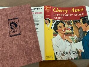 034-CHERRY-AMES-DEPARTMENT-STORE-NURSE-034-hb-dj-RED-TWEED-EXCELLENT-CONDITION