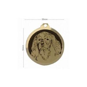 Medaille-en-laiton-gravee-race-chien-CAVALIER-KING-CHARLES