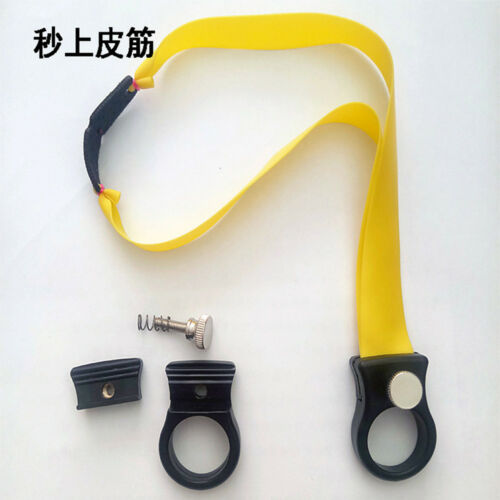 Black ABS Resion Slingshot Hunting Catapult Sling Shot with Flat Rubber Band New