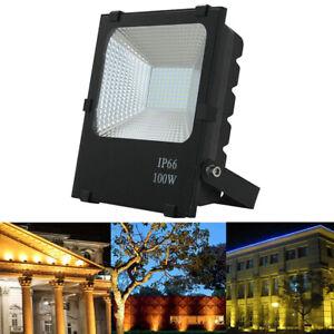 100W SMD LED Baustrahler Fluter Außen Flutlicht Gartenlampe Warm Weiß IP65 NEU