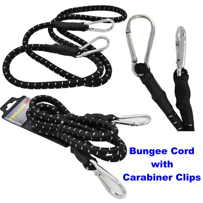 "24/"" Bungee Rope With Carabina Hooks Cords Shock Elastic Clips TE922"