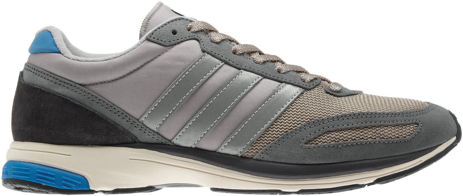 Herren Neue Adidas adiZero Adios 2 Trainer Turnschuhe Sportschuhe - Grau - RRP