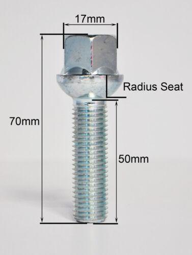 hilo de 50mm Zinc pernos de la rueda de radio y armarios 20 X M14 X 1.5