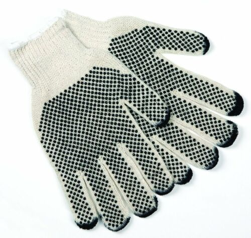 12//PR MEMPHIS 9667S PVC Dotted 7-Gauge Cotton//Polyester String Knitted Gloves