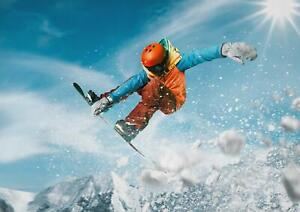 A1-Snowboarding-Skiing-Art-Poster-Print-60-x-90cm-180gsm-Living-Room-Gift-12455