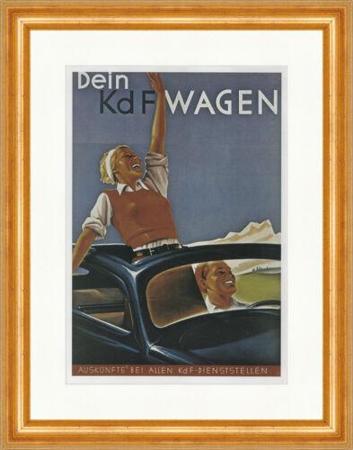 Dein KdF Wagen Deutsches Reich Atelier Brach 1939 Kunstdruck Plakatwelt 805
