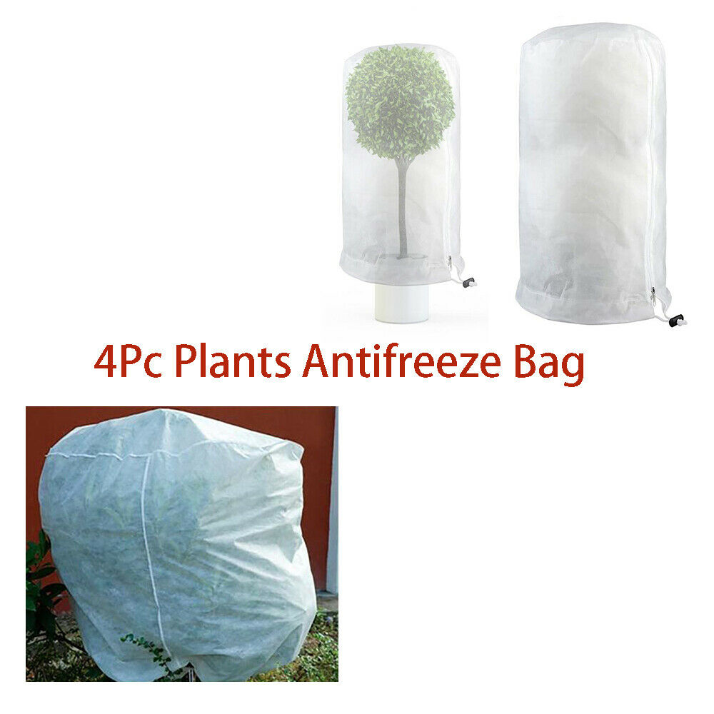 Drawstring Cover 4 Pc Anti-freezing Soft Non-woven Breathable Practical Durable