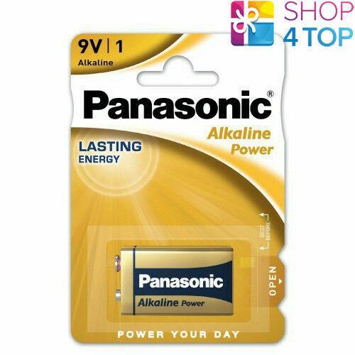 Panasonic alkaline power battery 9v 6lr61 e block 6lf22 new