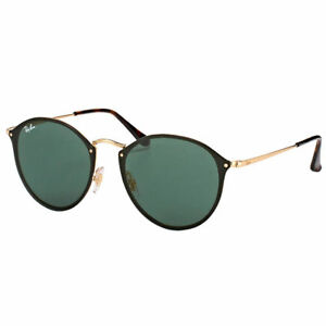 4aab3d3fb23 Ray-Ban Rb3574n 001 71 Blaze Round Gold Green Classic Sunglasses Metal 59mm